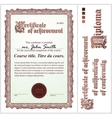 Brown certificate Template Vertical vector image vector image