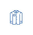 business men shirt line icon concept business men vector image vector image