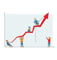 business people characters teamwork cooperation vector image vector image