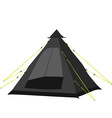 Camping tent black vector image vector image