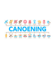 canoeing minimal infographic banner vector image vector image