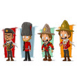 cartoon soldier and rangers character set vector image