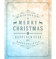 Christmas retro typography and light with snowlake vector image vector image