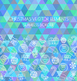 Christmas seamless border Multicolored triangular vector image vector image