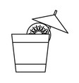 cocktail drink icon vector image vector image