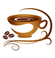 Coffee cup with pattern vector image vector image