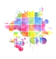 colorful watercolor stain for design vector image vector image