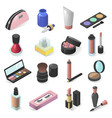 cosmetics collection female beauty products vector image