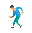 dancer wearing suit dancing character isolated vector image vector image