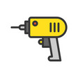 electric drill filled outline icon handyman tool vector image