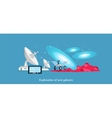 Exploration New Galaxies Icon Flat Isolated vector image vector image