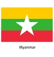 Flag of the country myanmar vector image