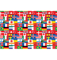 flags pattern vector image vector image