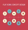 flat icons pants apparel lingerie and other vector image