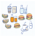 Food and beverage vector image vector image