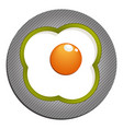 fried eggs with green paprika fried eggs vector image vector image