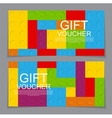 Gift Voucher Template with the designer in the vector image vector image