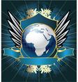 globe emblem vector image vector image