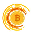 golden bitcoin currency circle background i vector image