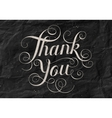 Hand lettering Thank You black paper background