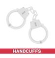 Handcuffs icon vector image vector image