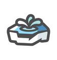 ice hole floe icon cartoon vector image
