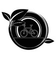 isolated bicycle round icon vector image vector image