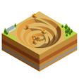 isometric mining industry concept vector image vector image