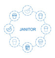 janitor icons vector image vector image