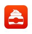 jar of cosmetic cream icon digital red vector image vector image