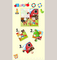 jigsaw puzzle game template boy and dog vector image