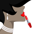 lady and red lipstick vector image