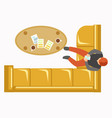 lounge zone at office with soft angular sofa vector image vector image
