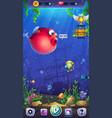 mahjong fish world - mobile format playing field vector image vector image