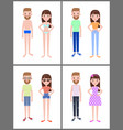 man and woman collection vector image vector image