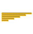 measure tape ruler metric measurement metric vector image vector image