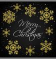 merry christmas black card vector image