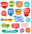 modern labels badges and tags 2 vector image vector image