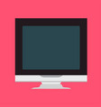 monitor front view screen computer equipment icon vector image vector image
