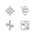 navigation pixel perfect linear icons set vector image