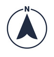 north arrow icon n direction pointer symbol vector image vector image