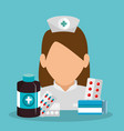 nurse with medical equipment vector image