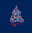 patterned florid christmas tree on a background of vector image