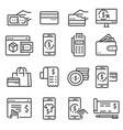 payment icons collection filled payment vector image