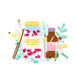 pharmacist and drugs vector image