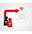 pollution infographics design vector image vector image