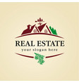 real estate logo wood vector image