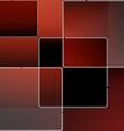Red mosaic background in vector image