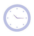 round clock time isolated design icon vector image