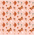 seamless pattern spring and easter pattern vector image vector image